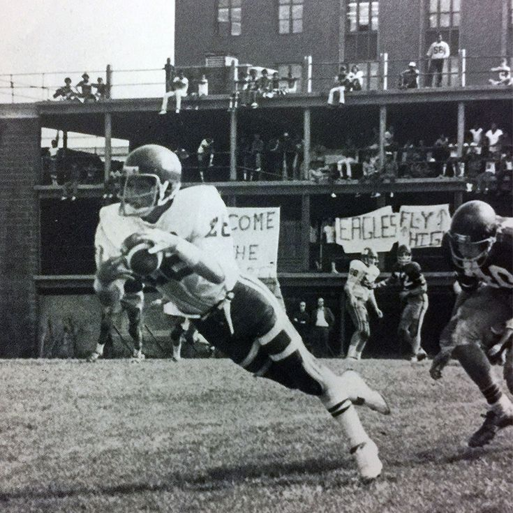 A football game on Buchanan Field in 1976.