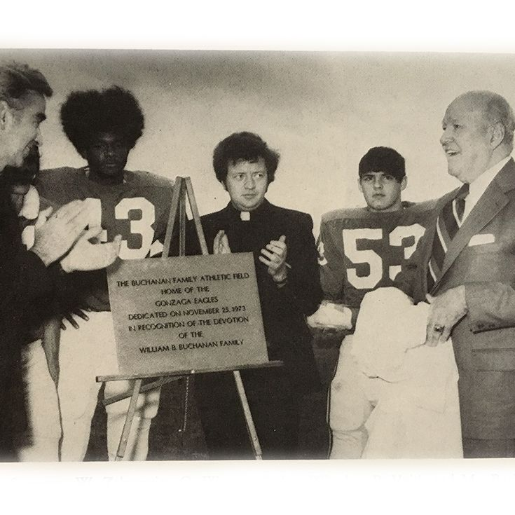 The dedication of Buchanan Field in 1973.