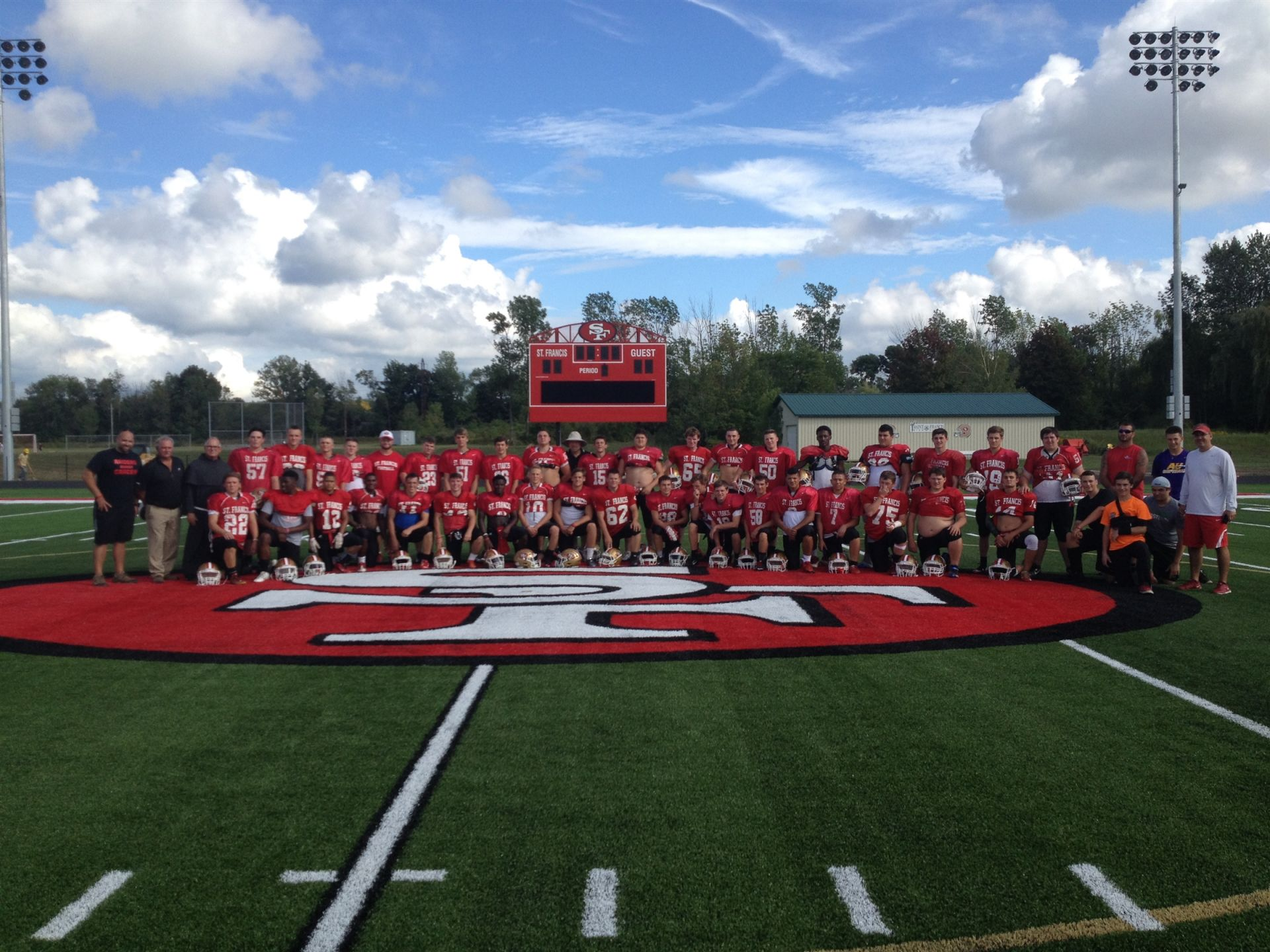 1st Team pic on Polian Family Field