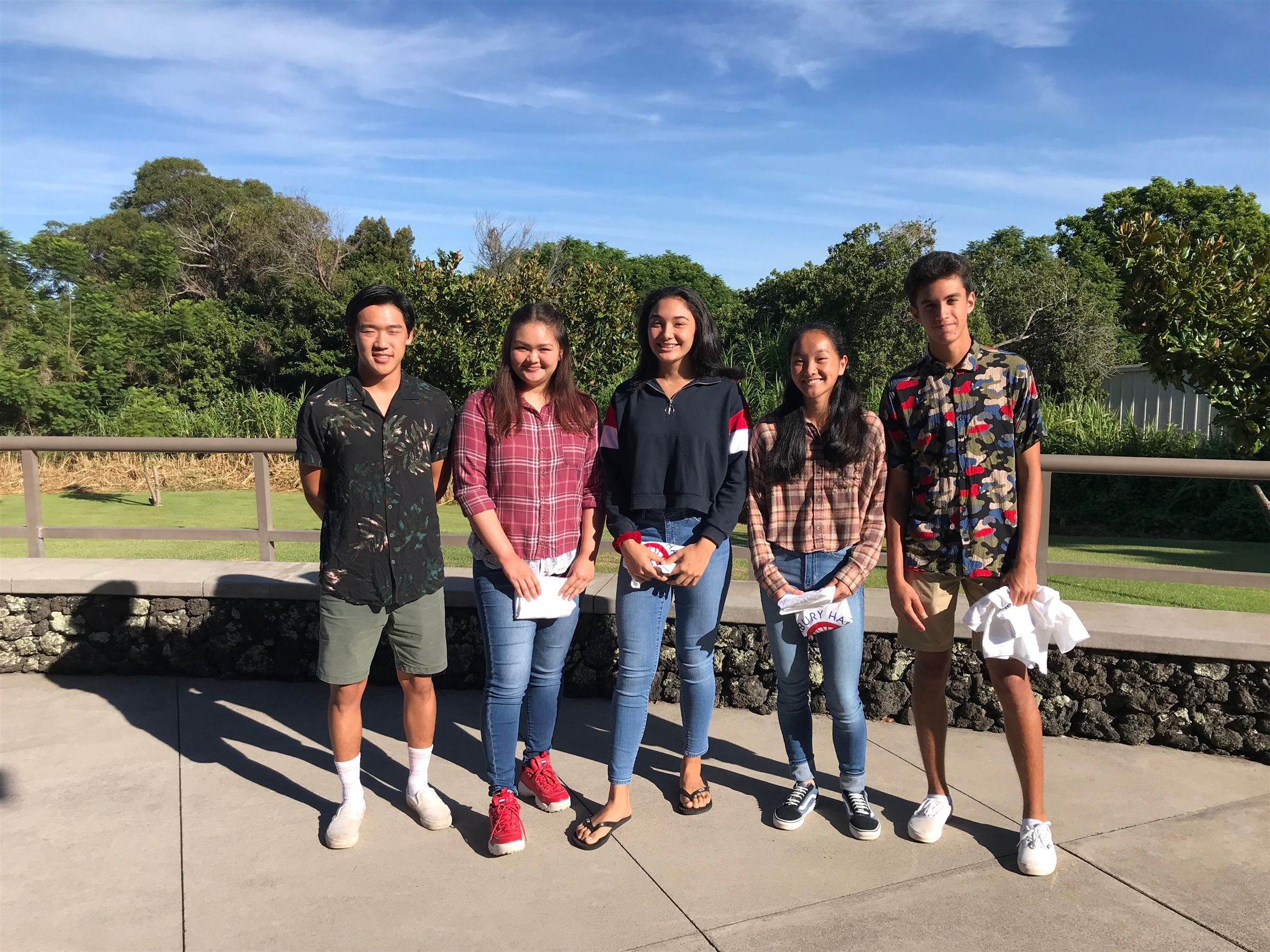 Blayde Omura (Football), Taylie Kawakami (Air Riflery), Skylar Conley (Volleyball), Lily McLeod (Cross Country), Ka'eo Keomaka (Cross Country)