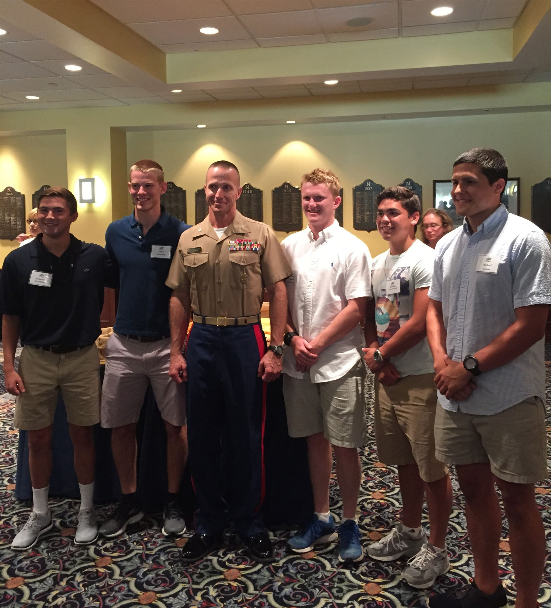 Class of 2015 Naval Foundation Scholars on Induction Day at Annapolis.