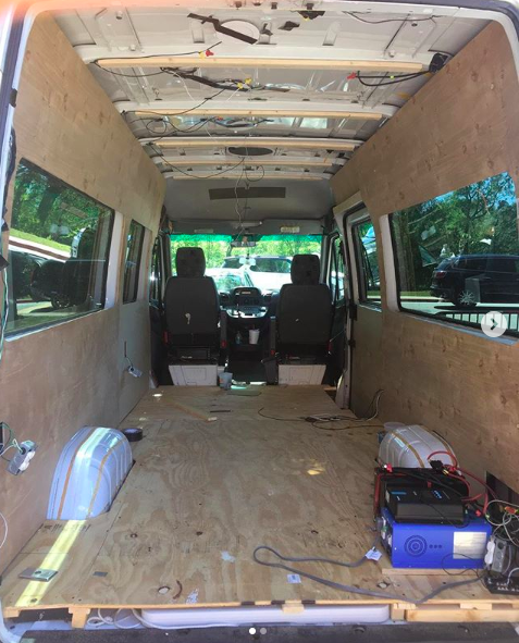 For their Senior Project, Colton Mays '19 & Jared Yarmowich '19 transform a van into a sustainable, mobile, tiny house. Instagram: StewTheVan