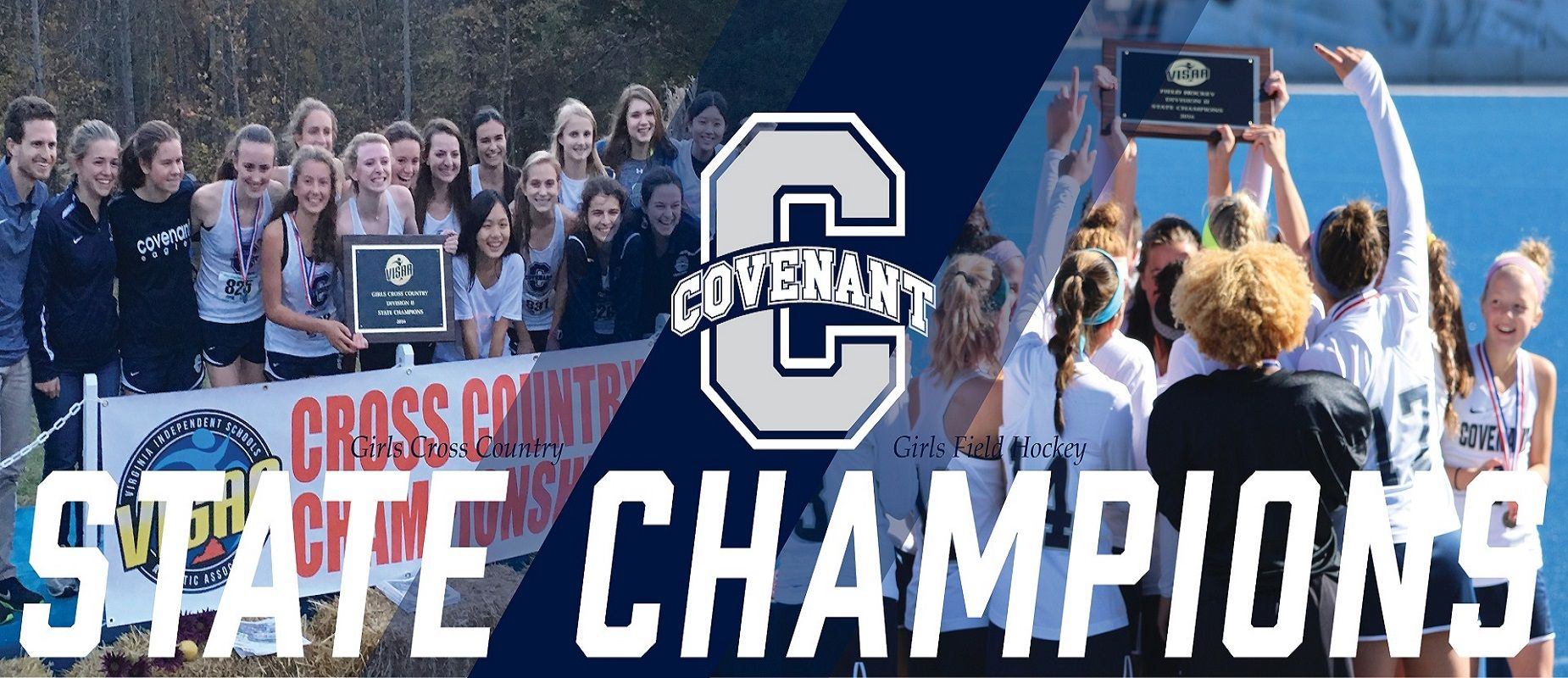 In 2016, Girls Field Hockey won their first state championship in school history, and our Girls Cross Country team repeated as state champions.