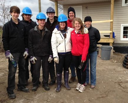Lakefield Habitat for Humanity build