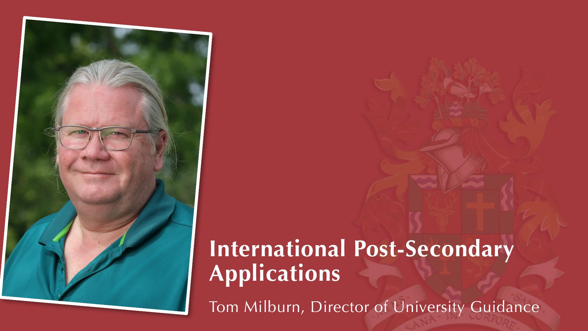 International Post-Secondary Applications