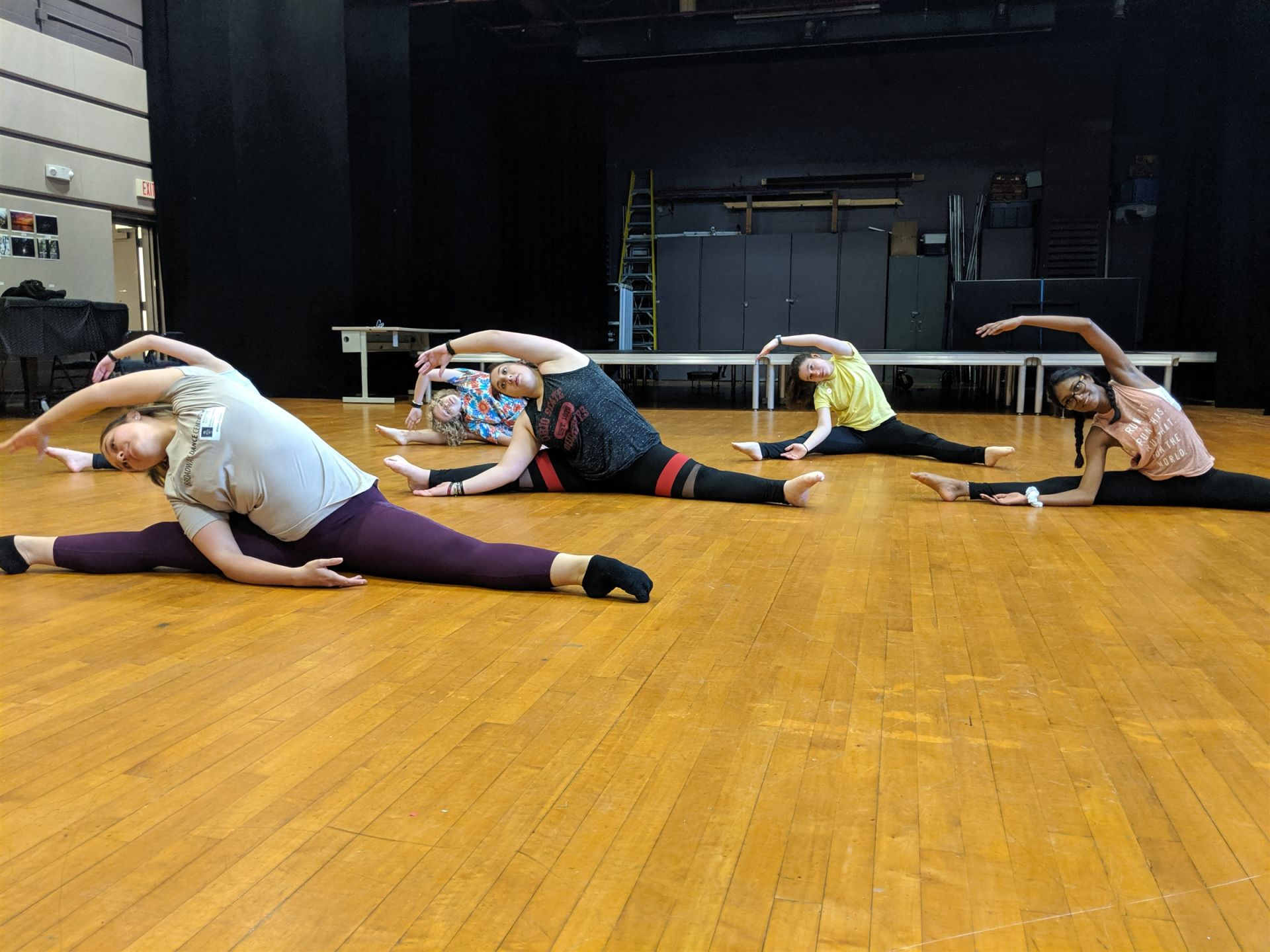 Dance III students learn new choreography with guest Brielle Columber.