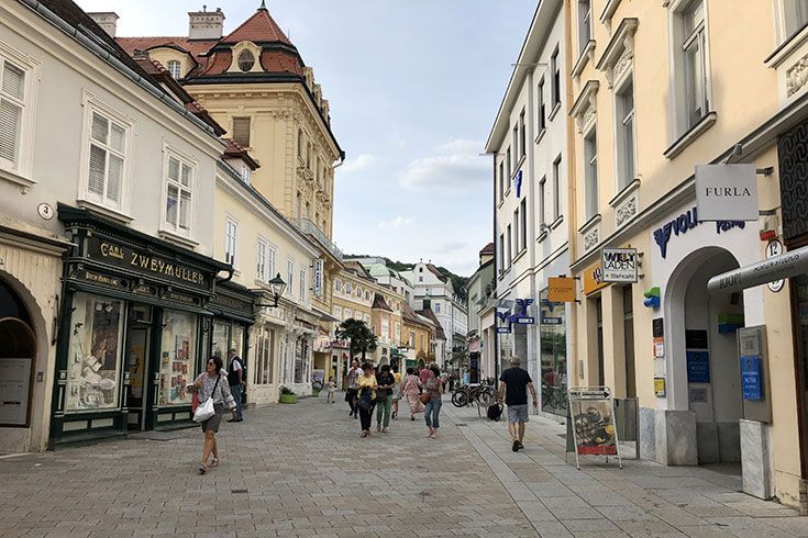 the charming town of Baden