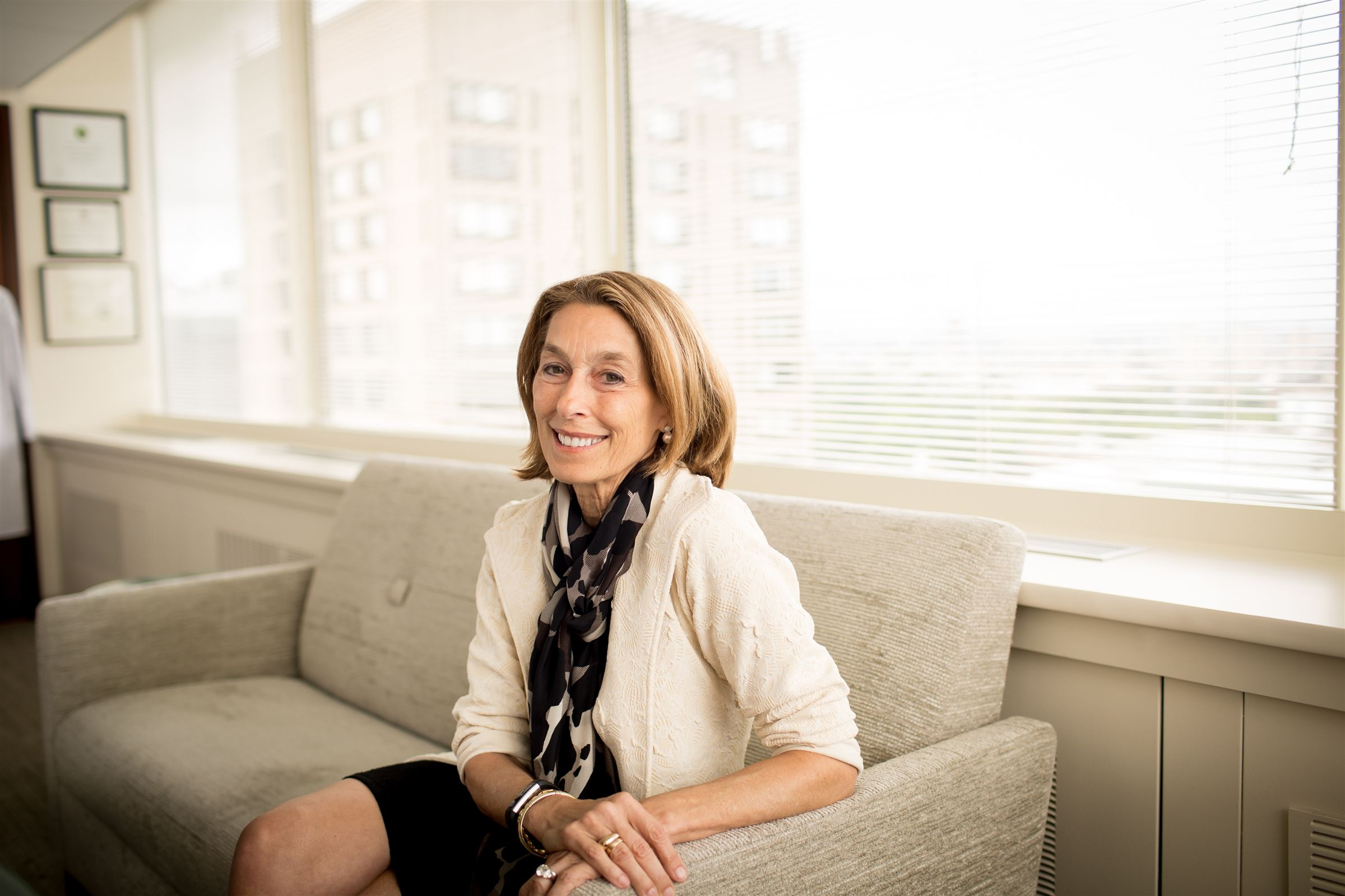 "Laurie Glimcher '68 reflects on a life at the forefront of research and leadership and her hopes for a new generation of women in science. At her 50th Winsor reunion, the first woman president of Dana Farber celebrated coming ""full circle,"" back to Longwood neighborhood where her passions took root."