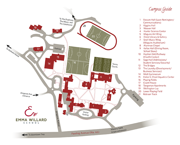 Schenectady County Community College Campus Map.Directions And Campus Maps Emma Willard School In Troy Ny