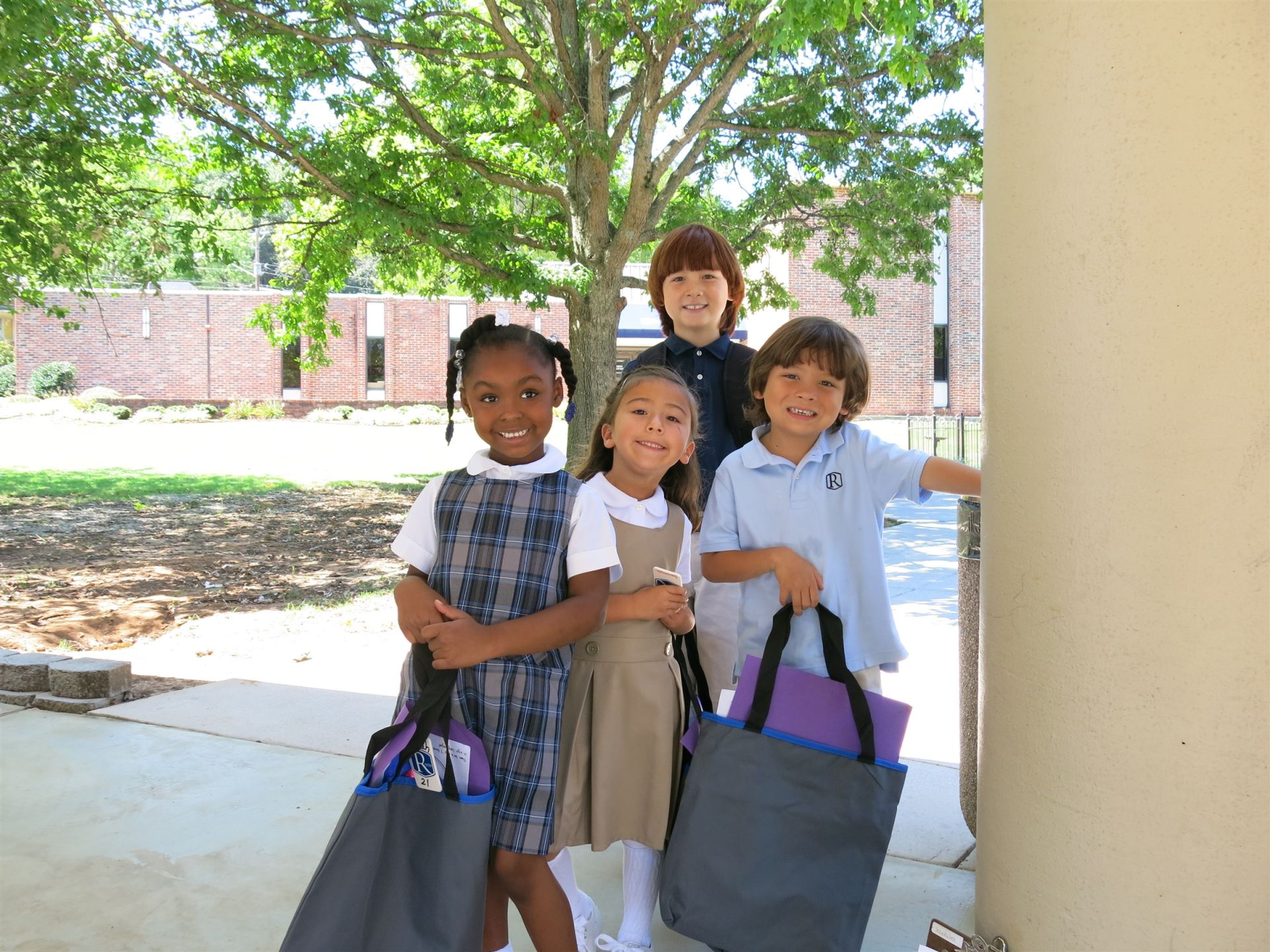 Lower School students on the first day of school.