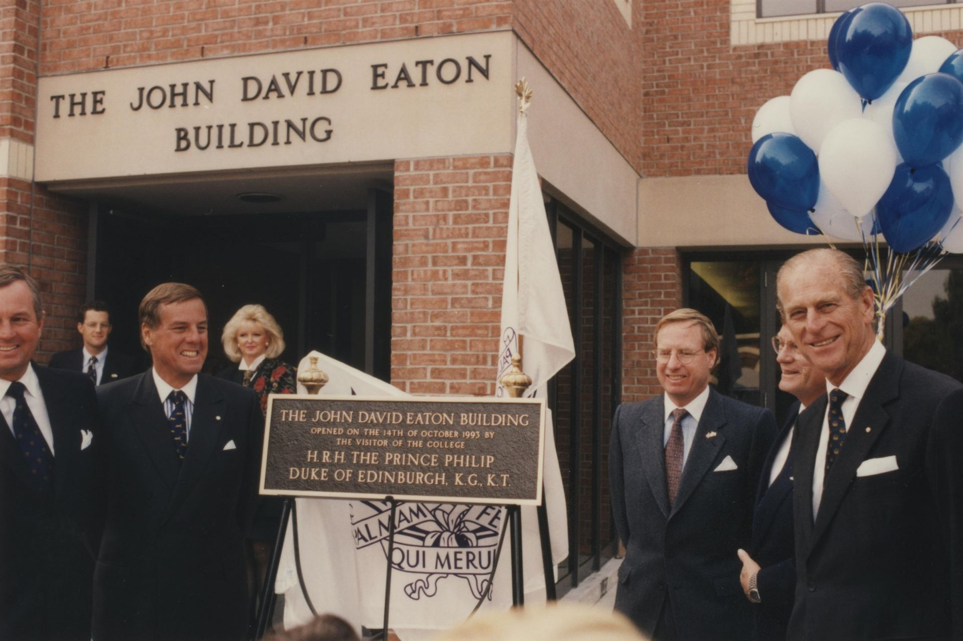 1993-1994_Prince Philip Visit Opening of The John David Eaton Building