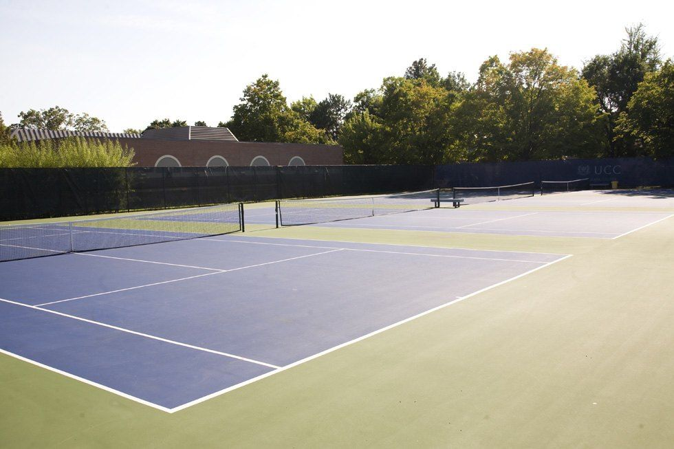 There are four outdoor hard courts and two more hard courts housed in an inflatable sports bubble to enable year-round play.
