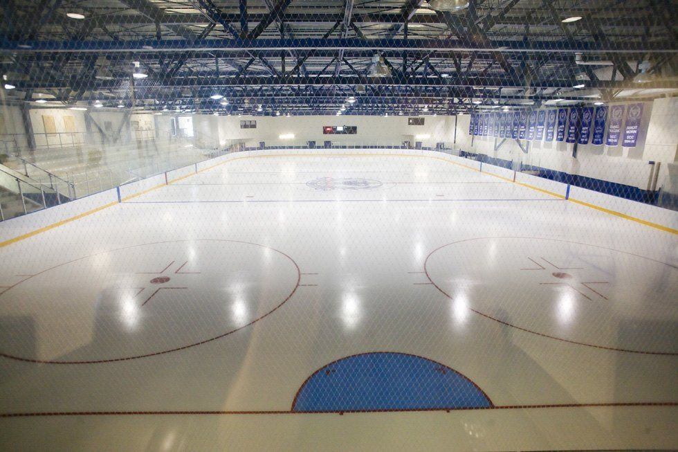 This LEED-certified facility features both NHL- and Olympic-sized ice rinks.