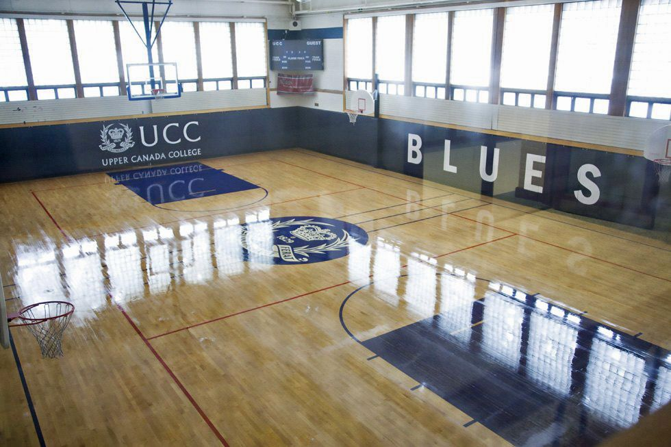 The gym is central to the Prep's myriad athletic activities, and indoor recess when necessary.
