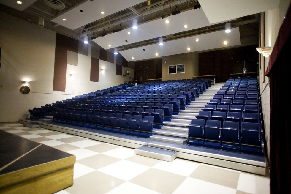 This 350-seat space in the Prep School is used for assemblies, musical and theatrical performances.
