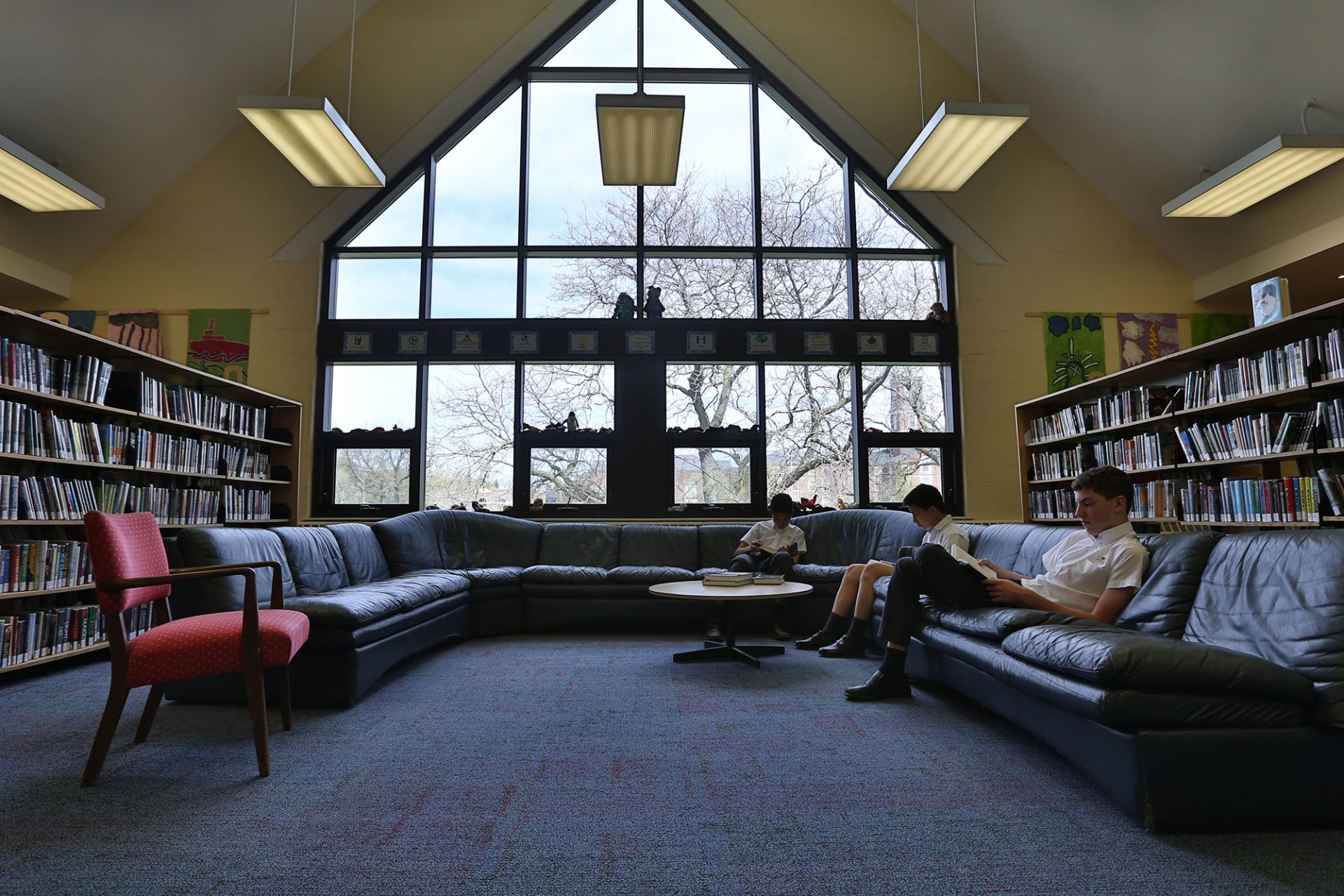 The Prep School library is an oasis of calm frequented by all classes at various times throughout the year.