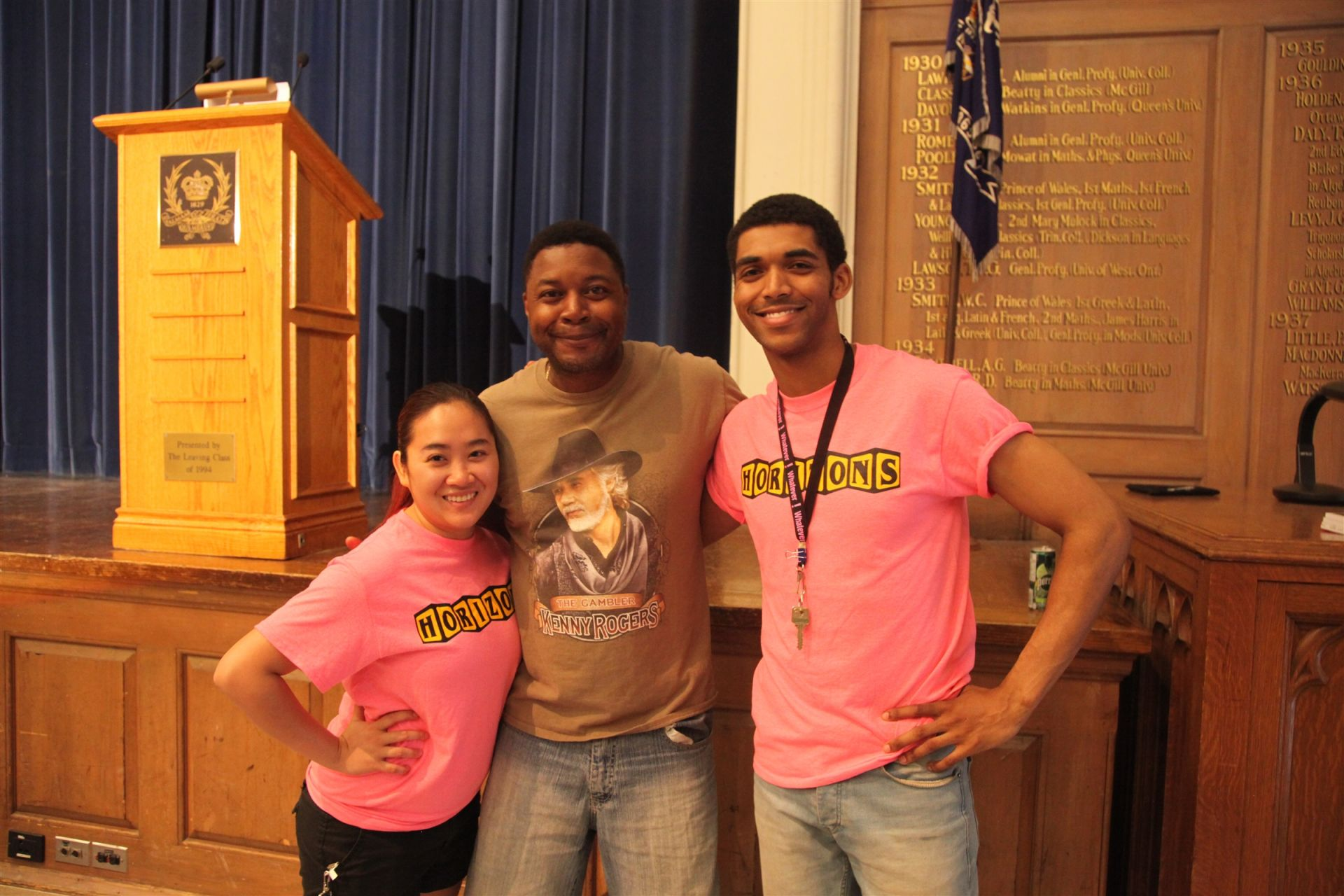Dwayne Morgan (center) - local poet and motivational speaker