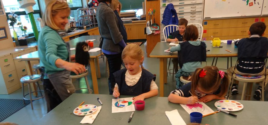 Our three light-filled art studios are open spaces to explore creative thinking. Give students the tools, supplies and instruction, and watch them make unique works of art. Meanwhile, their teachers are also working artists who participate in local art shows and exhibits.
