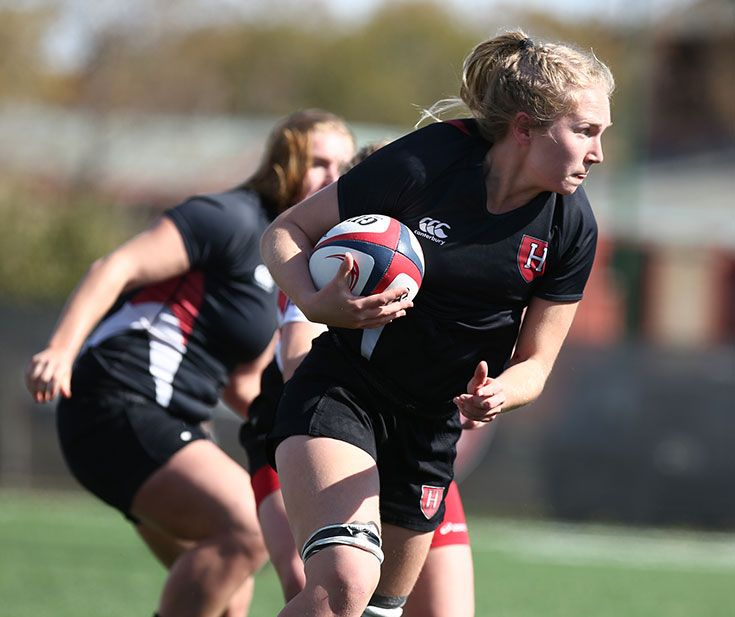 Harvard Women's Rugby (Photo: Gil Talbot, Harvard Athletics)