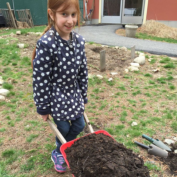 The OCMS Elementary enrichment curriculum includes organic gardening