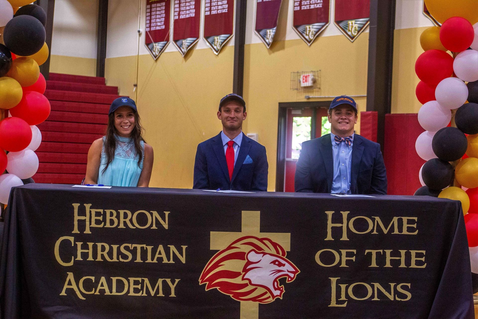 Nicole Restrepo – Covenant College (Tennis) Brandon Potra – Liberty University (Cross Country/Track) Micah Harden – Carson-Newman University (Football)