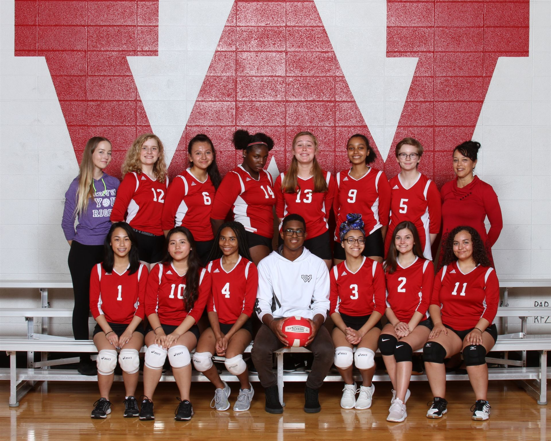 The 2018 Wayland Academy Junior Varsity Girls Volleyball team.