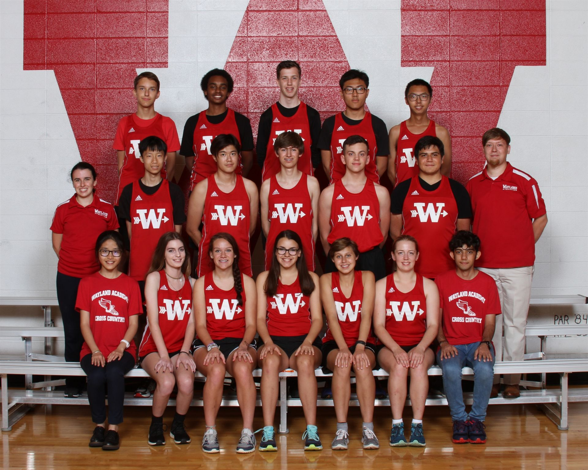 The Wayland Academy 2018 Cross Country team.