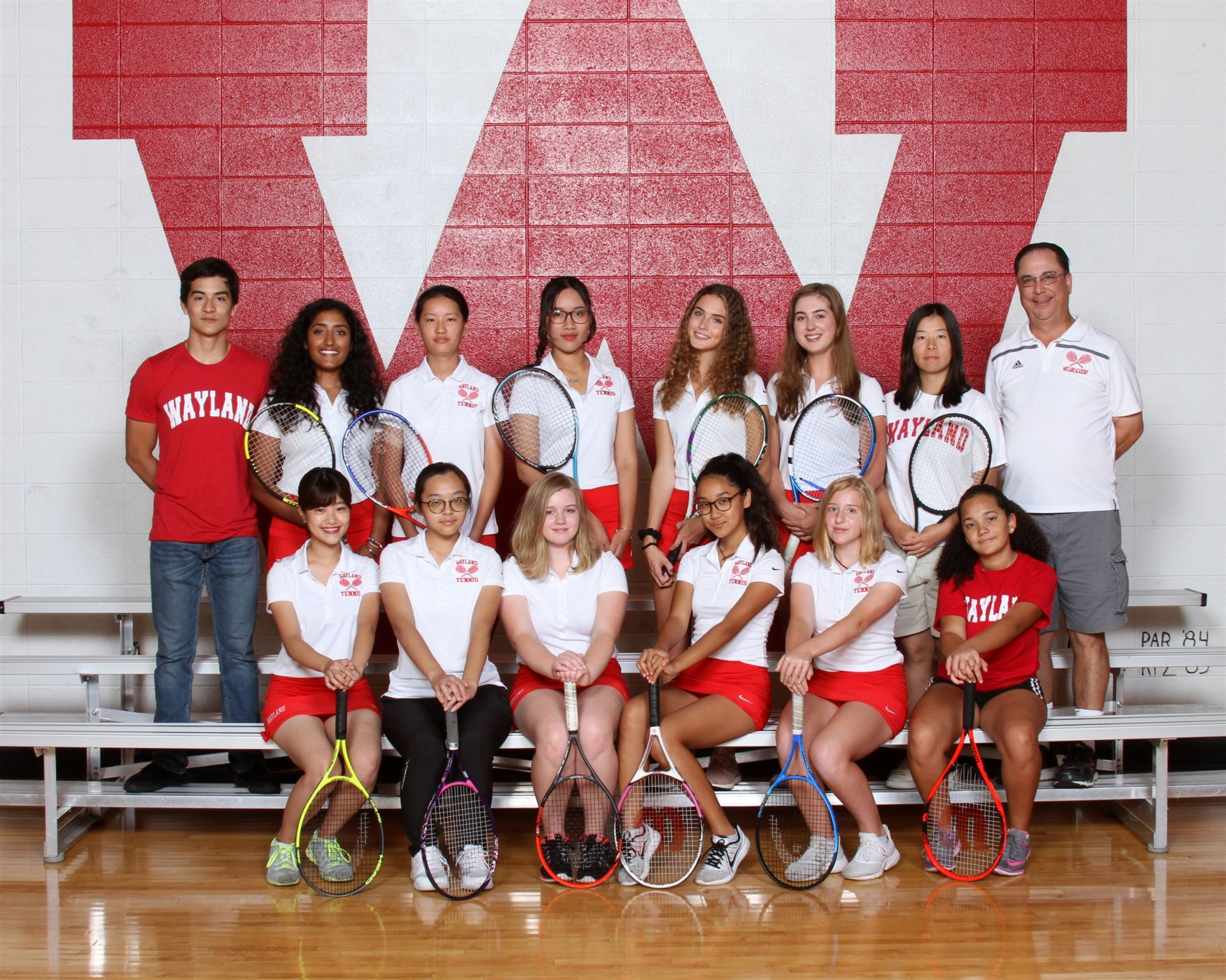 The Wayland Academy 2018 Varsity Girls Tennis team.