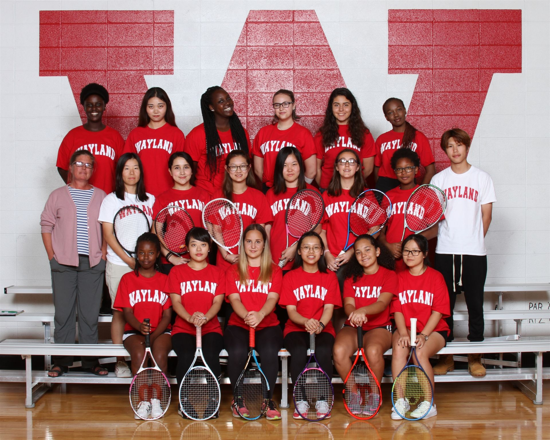 The Wayland Academy 2018 Junior Varsity Girls Tennis team.