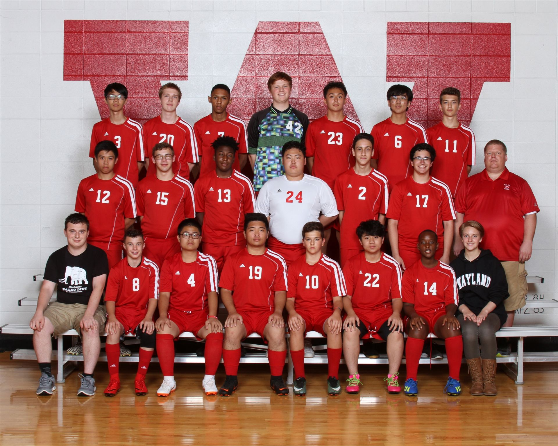 The Wayland Academy 2018 Junior Varsity Boys Soccer team.