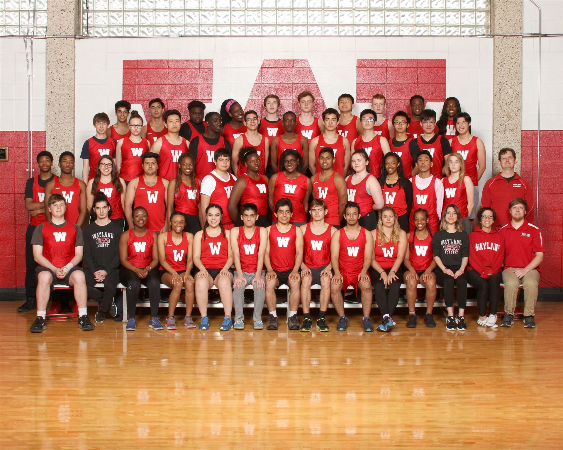The Wayland Academy 2018 Track team.