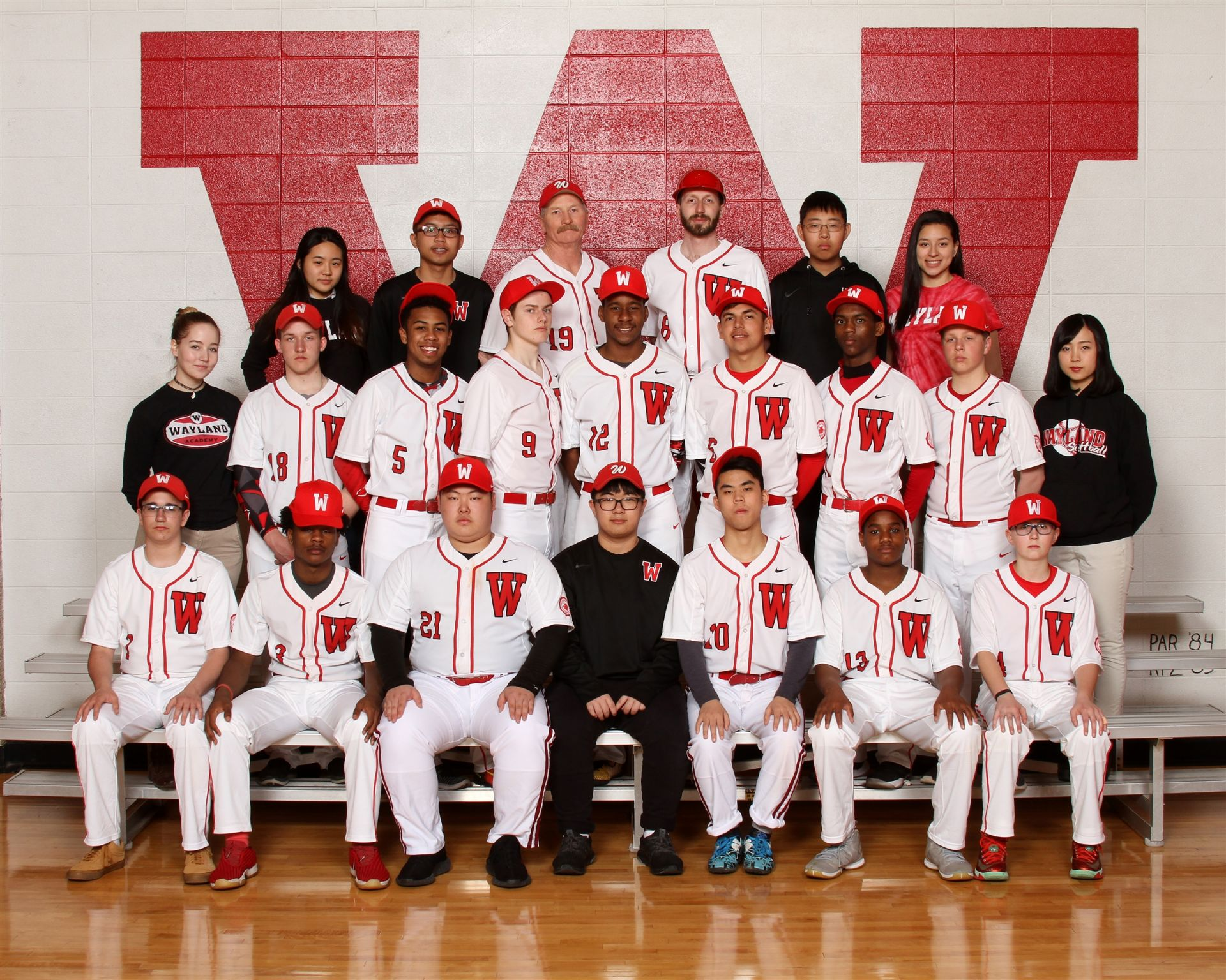 The Wayland Academy 2018 Baseball team.