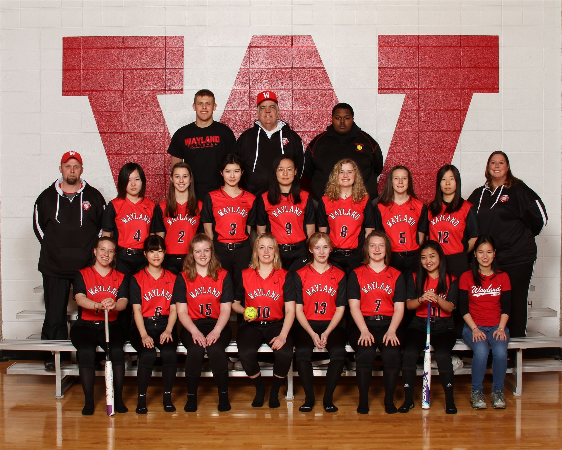 The Wayland Academy 2018 Varsity Softball team.
