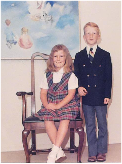Chip, fourth-grade, with his sister, Sally Herr Hollenbeck