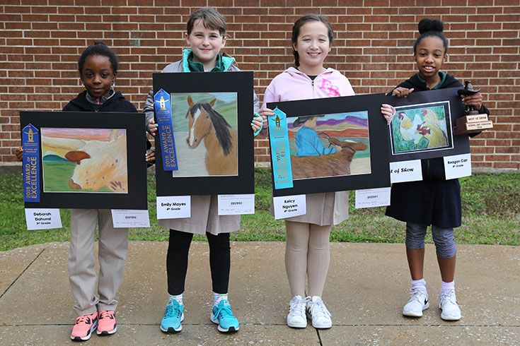 Lower School Rodeo Art
