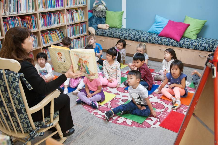 Preschool and kindergarten students have books read to them on a regular basis.