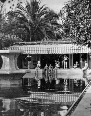 A luxury, 1930s-style swimming pool was located where Randall Hall stands today.