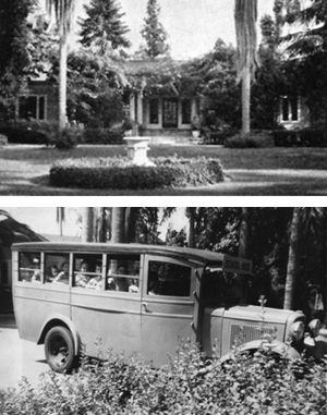 The original 1930s campus was an estate filled with cottages, and day students arrived by