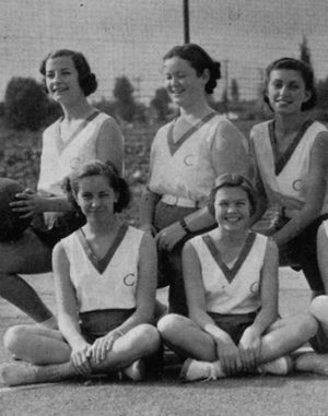 In the 1930s, Clairbourn had a high school. This is a 1935 picture of the volleyball team.