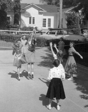 1950s - Students having recess.