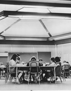 1968 - a futuristic, open-concept space for lower school classrooms, called the Gardner Building, was built.