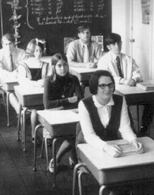 Late 1960s middle school class.