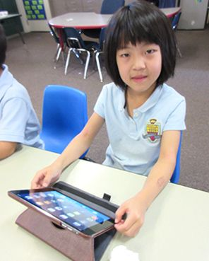 Grades K-8 enjoy a one-to-one iPad Program