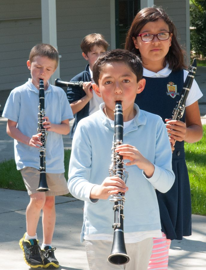 Plenty of opportunities to perform on an instrument are a big part of the Clairbourn music program.