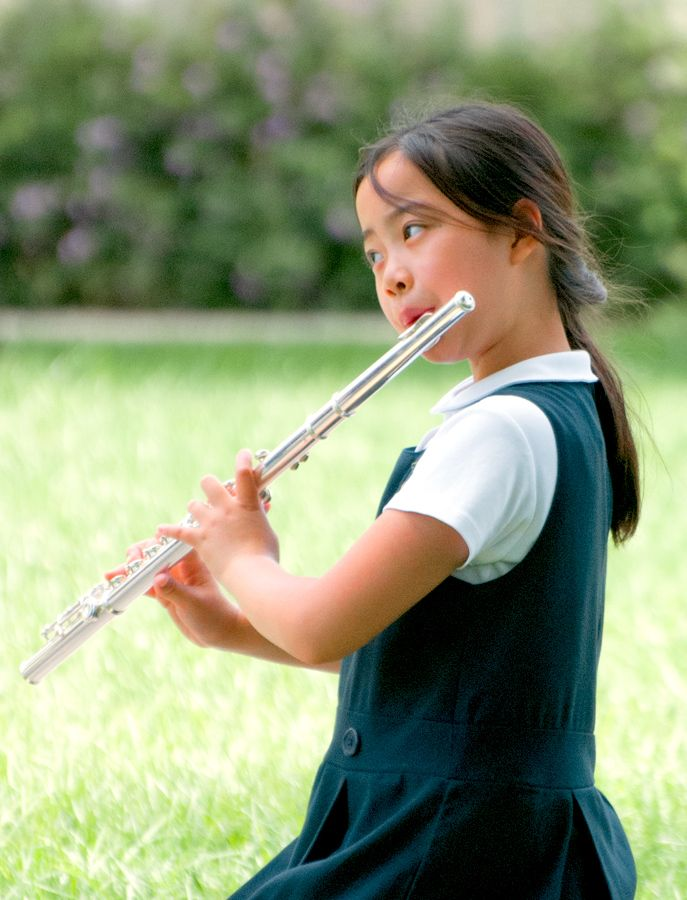 Students may choose to learn a wind or string instrument.