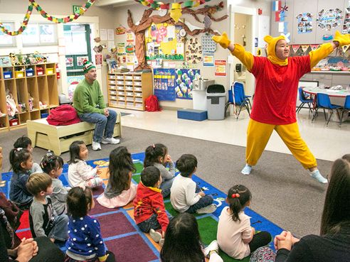Performers in the Pooh Play put on a show each year for Preschool up to Grade 5.