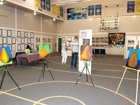 The Annual Art Show displays works of art from all grade levels created during the year.