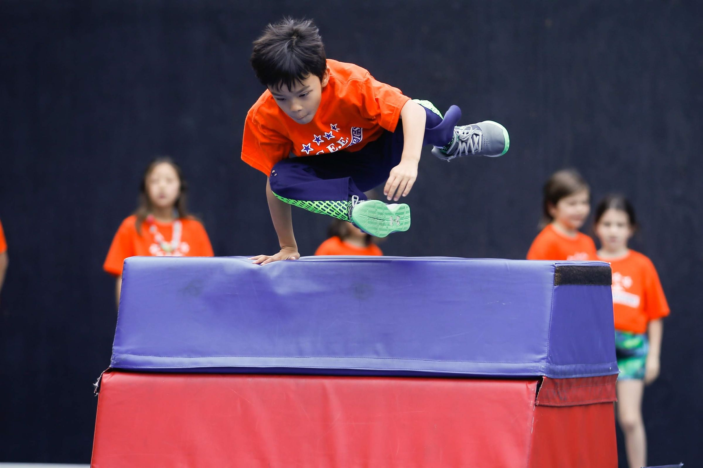 All K-6 students perform dances and compete in athletic events at the annual 2-day Olympics!