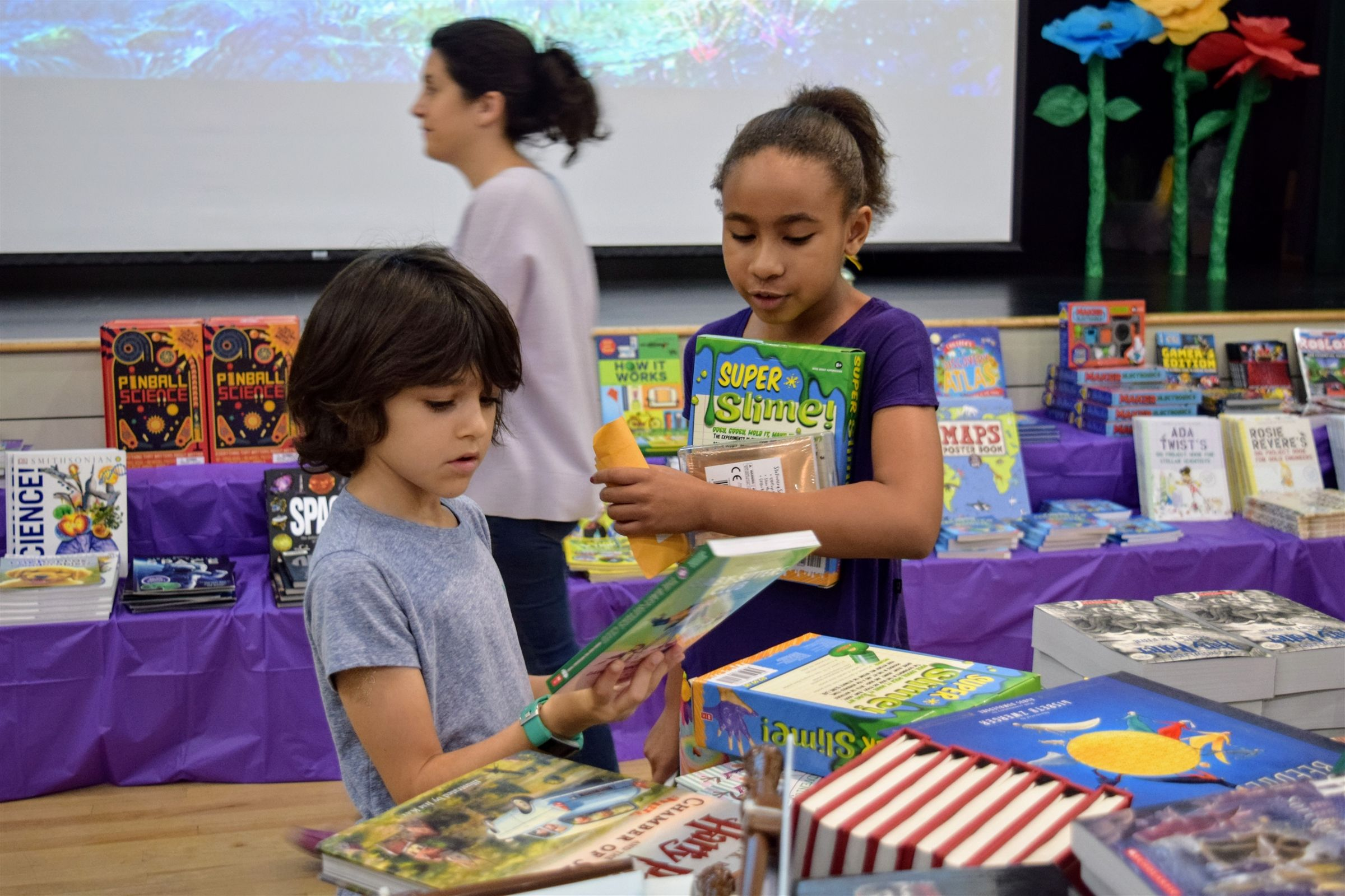 Students, parents, and teachers alike delight in picking out favoite titles each fall at the Book Fair.