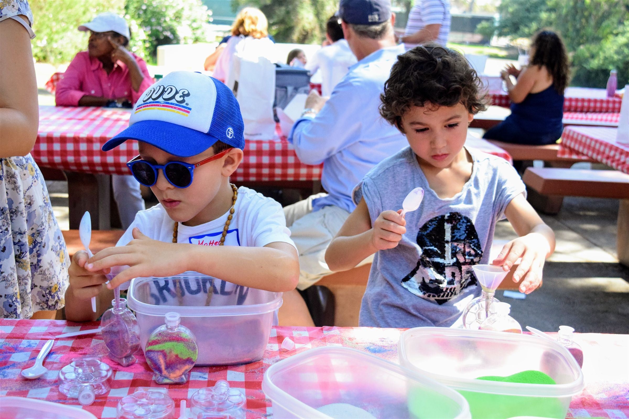 Families, faculty and staff gather each September for the annual back-to-school picnic.